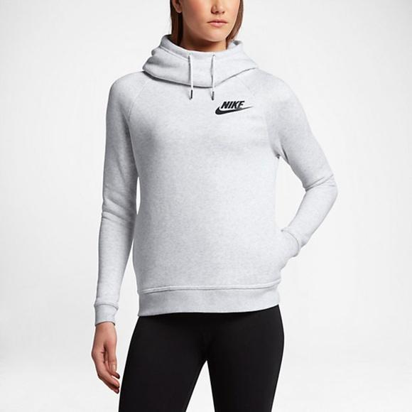 Nike Rally Funnel Neck W hoodie grey heather Womens
